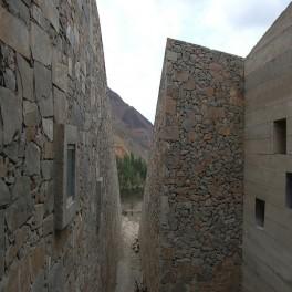 Ejecución de muros de mampostería.